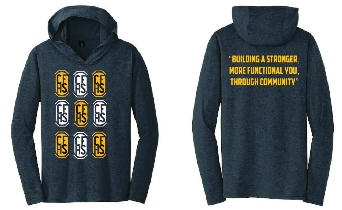 Image of CFHS Logos Long Sleeve Hooded Shirt - Multiple Colors