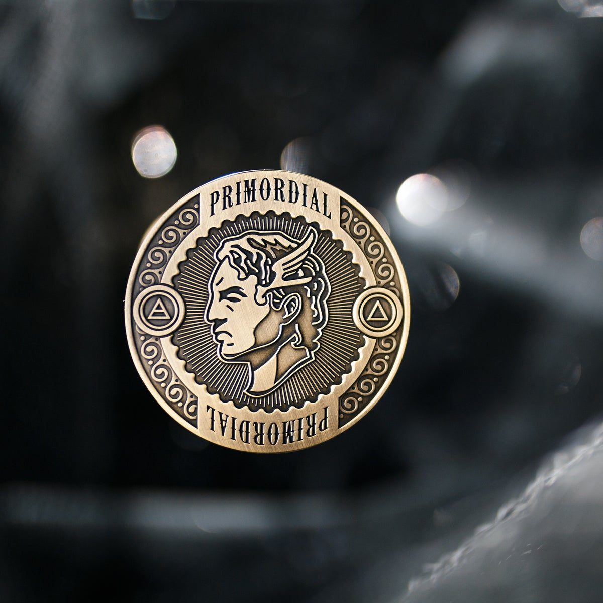 """Image of Primordial 2"""" Antique Gold Collector Coin"""