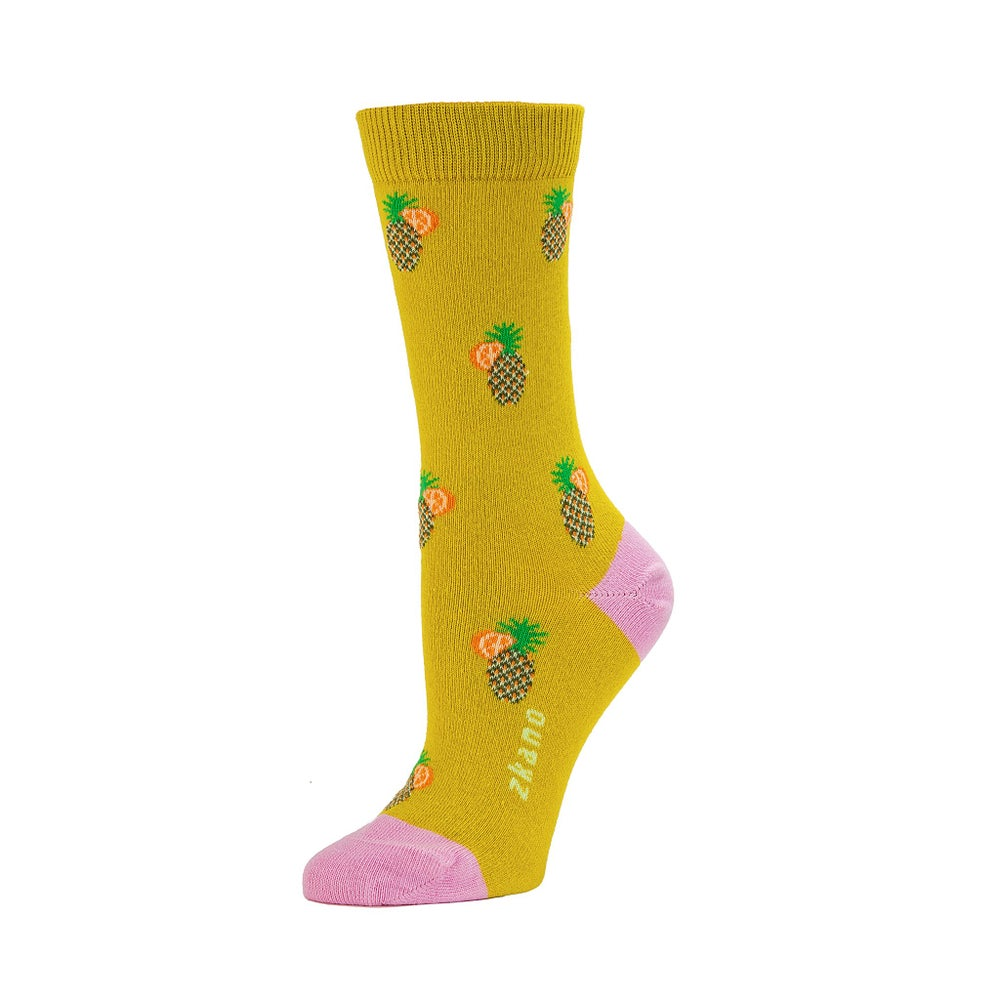 Image of Zkano Alana Tropical Crew - Citron (organic cotton)
