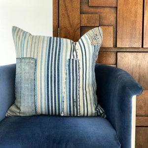 Image of JAPANESE INDIGO TEXTILE PILLOW