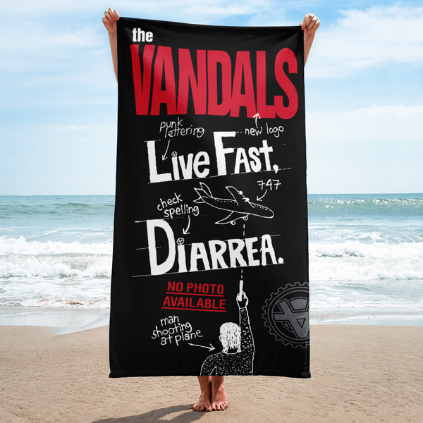 Image of Live Fast Diarrhea  Beach Towel