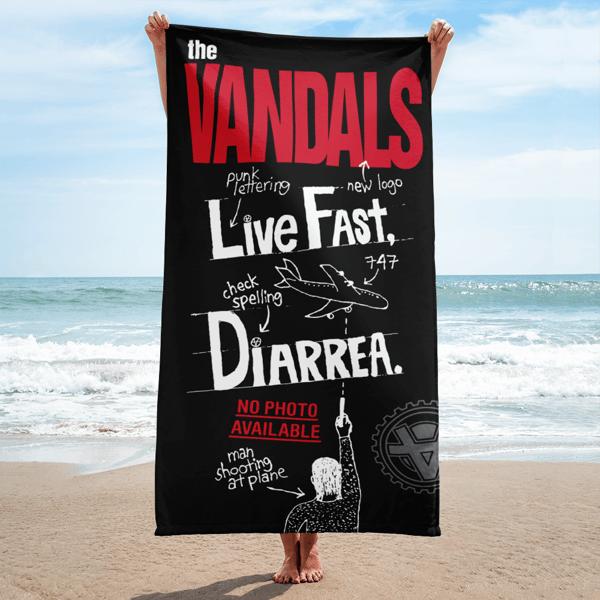 Image of Live Fast Diarrhea  Beach Towel