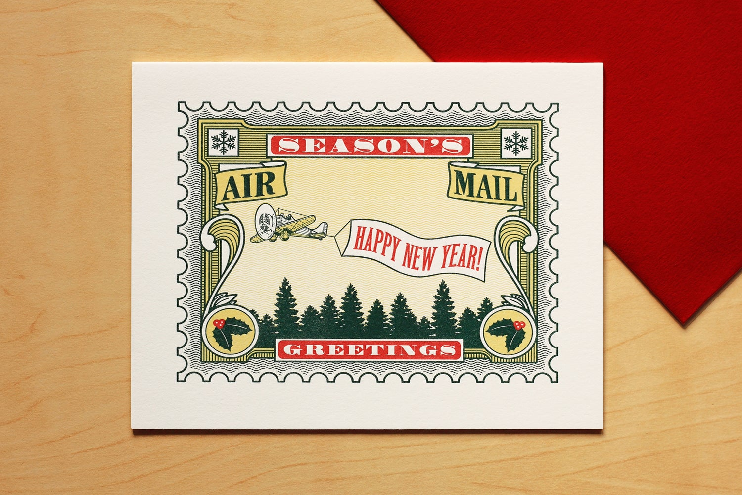 Image of SEASON'S GREETINGS AIR MAIL CARD