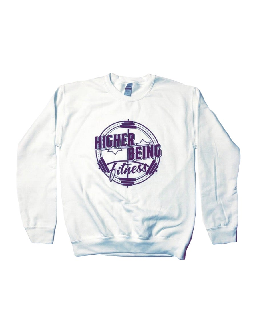 Image of White Higher Being Sweatshirt