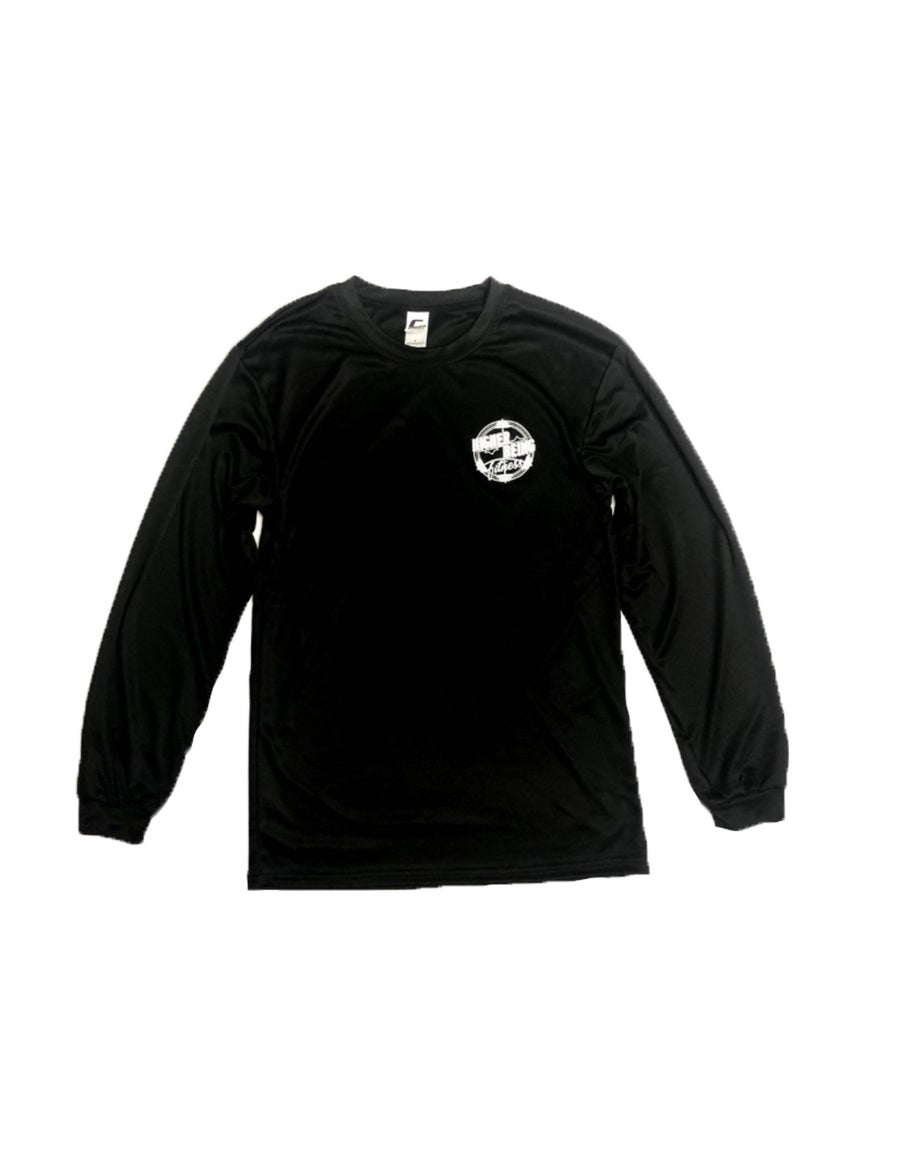 Image of Black Higher Being Athletic Long Sleeve