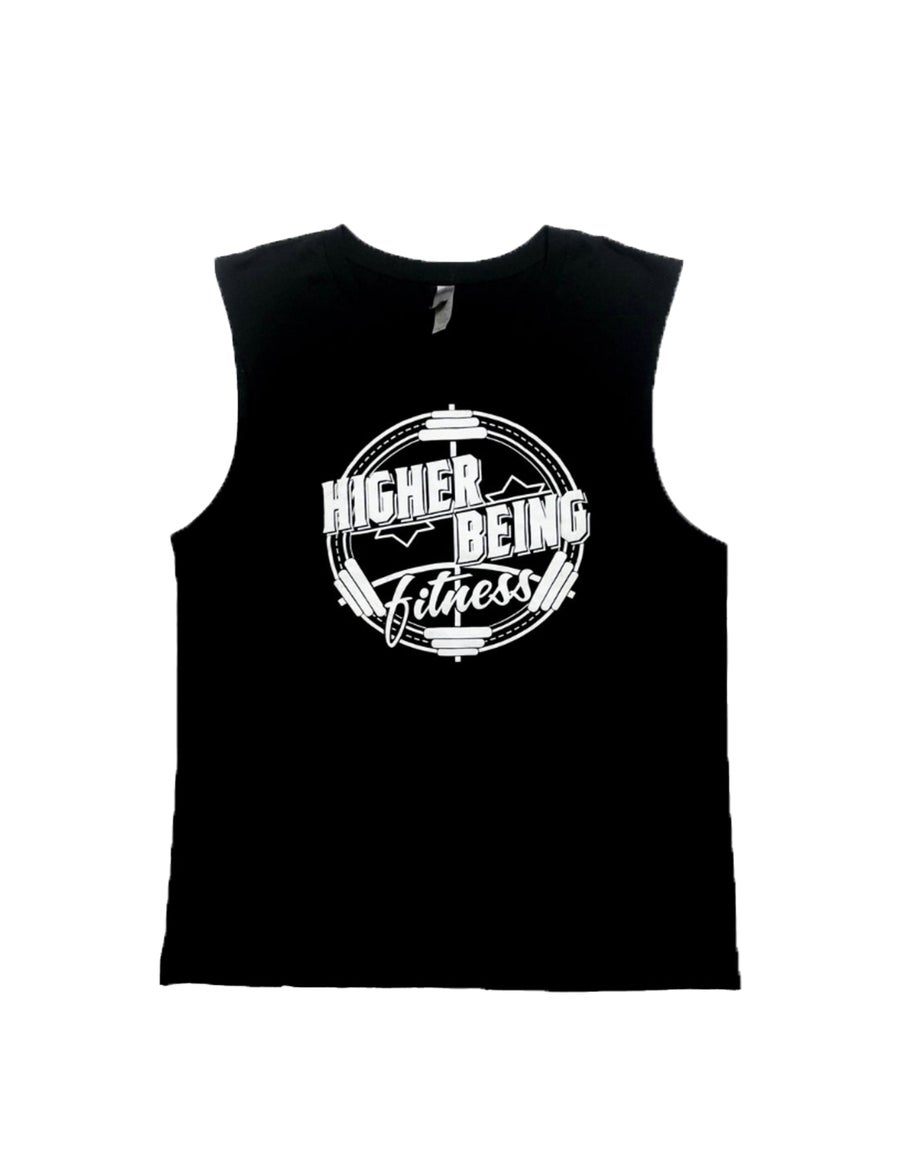Image of Black Higher Being  Men's Muscle Tanks.
