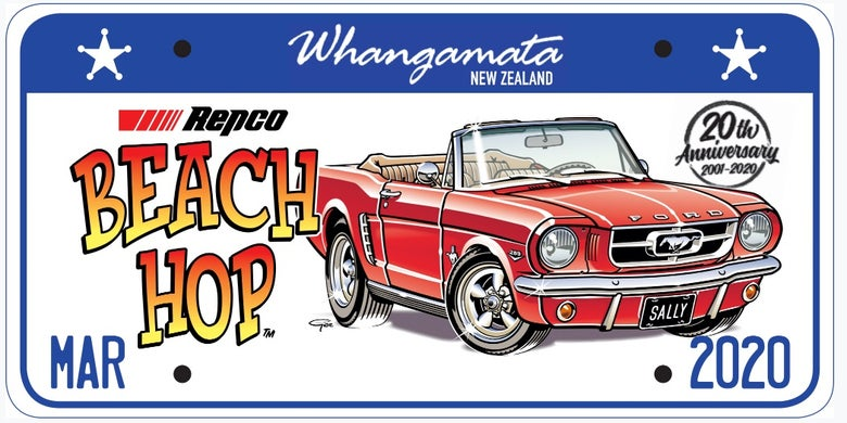 Image of Repco Beach Hop 20 License Plate