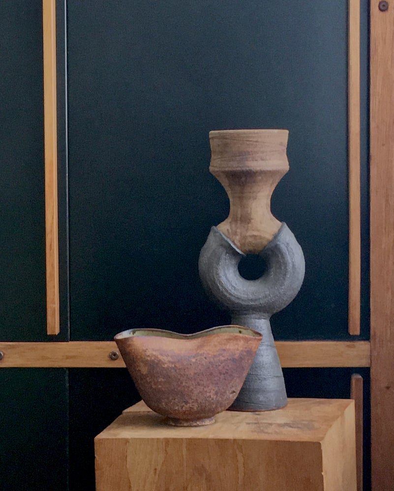 Image of Studio Ceramic Sculpture or Vessel by Clive Brooker, England