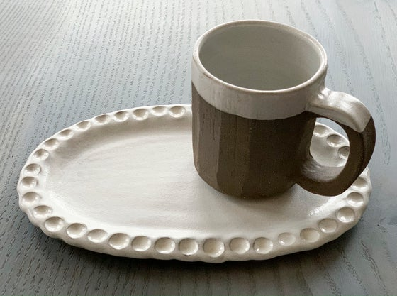 Image of Cup and Cookie Plate Set 4