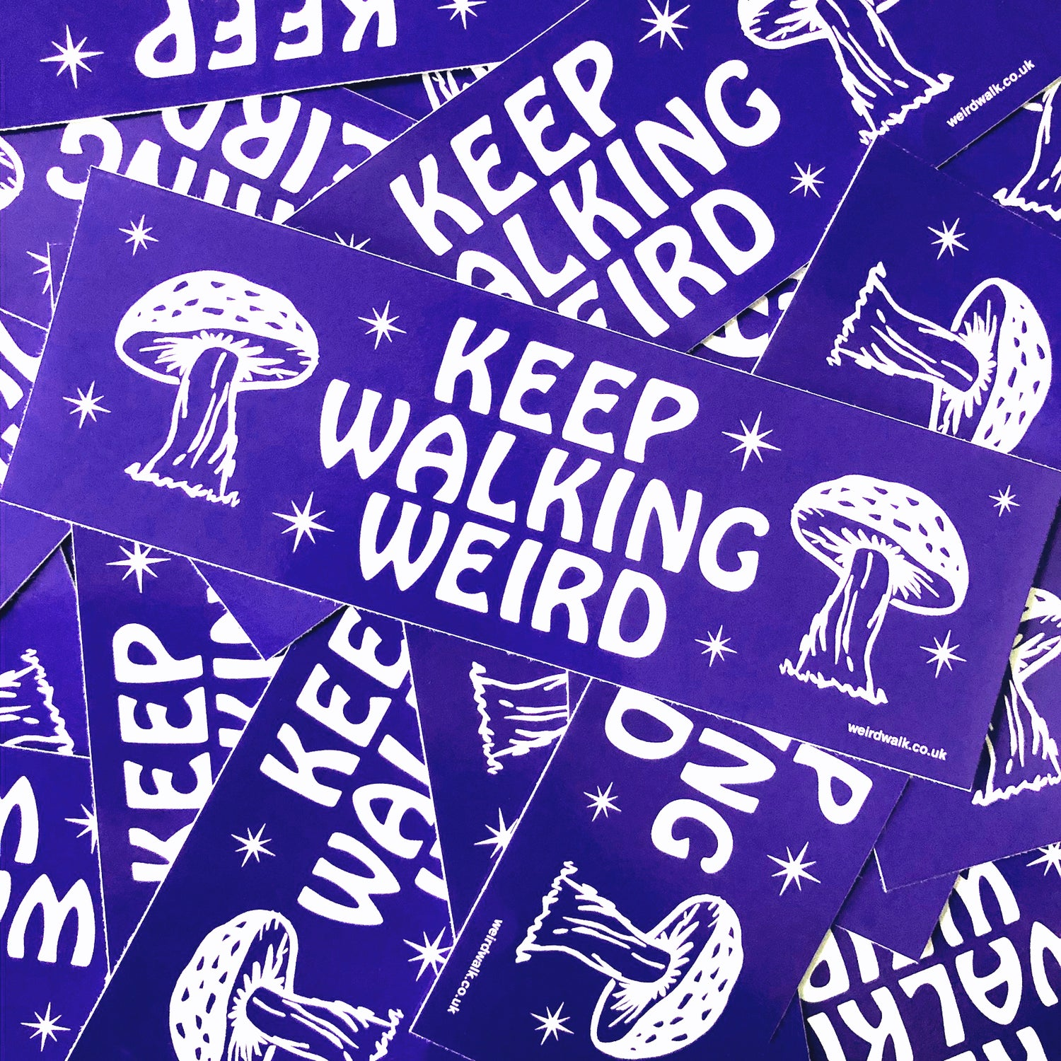 Image of Keep Walking Weird / Stone Circle Stickers (2-pack)