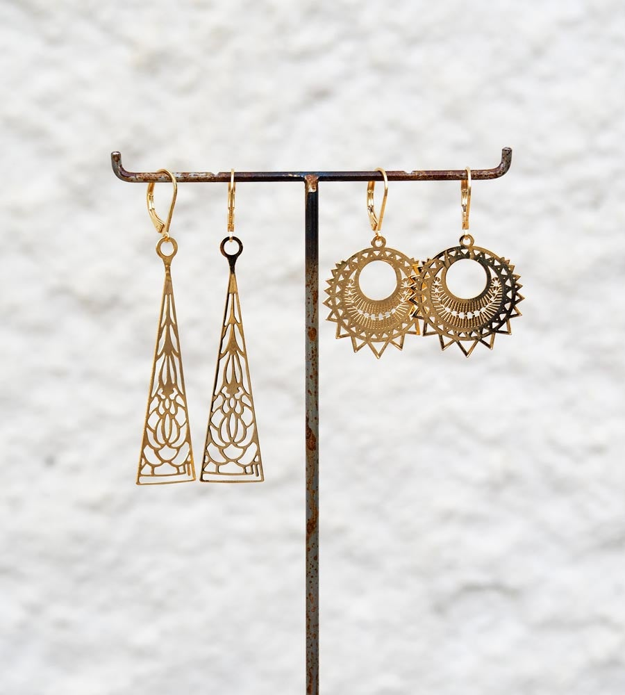 Image of Boucles d'oreilles Estampes