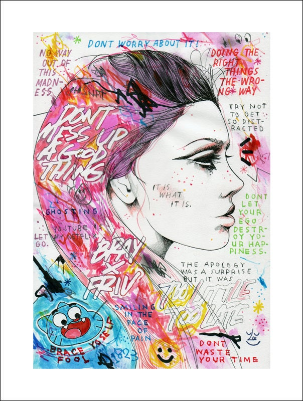 "Image of ""BRACE YOURSELF FOOL"" - GICLEE PRINT"