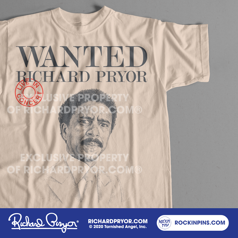 Image of Richard Pryor - Wanted Live In Concert T Shirt