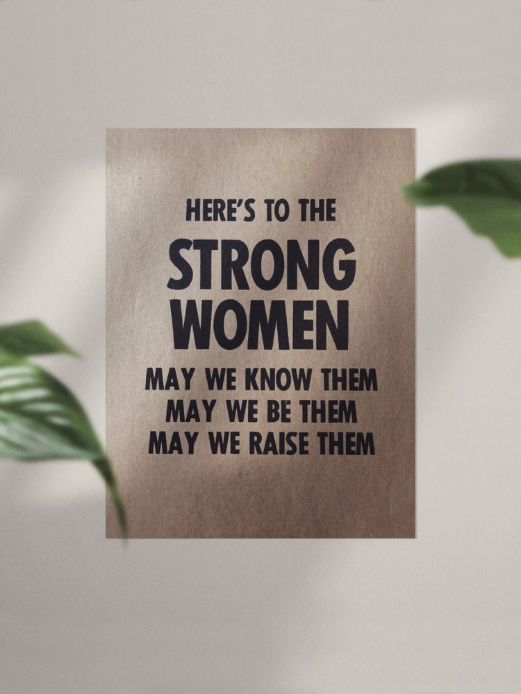 Image of Strong Women Letterpress Print