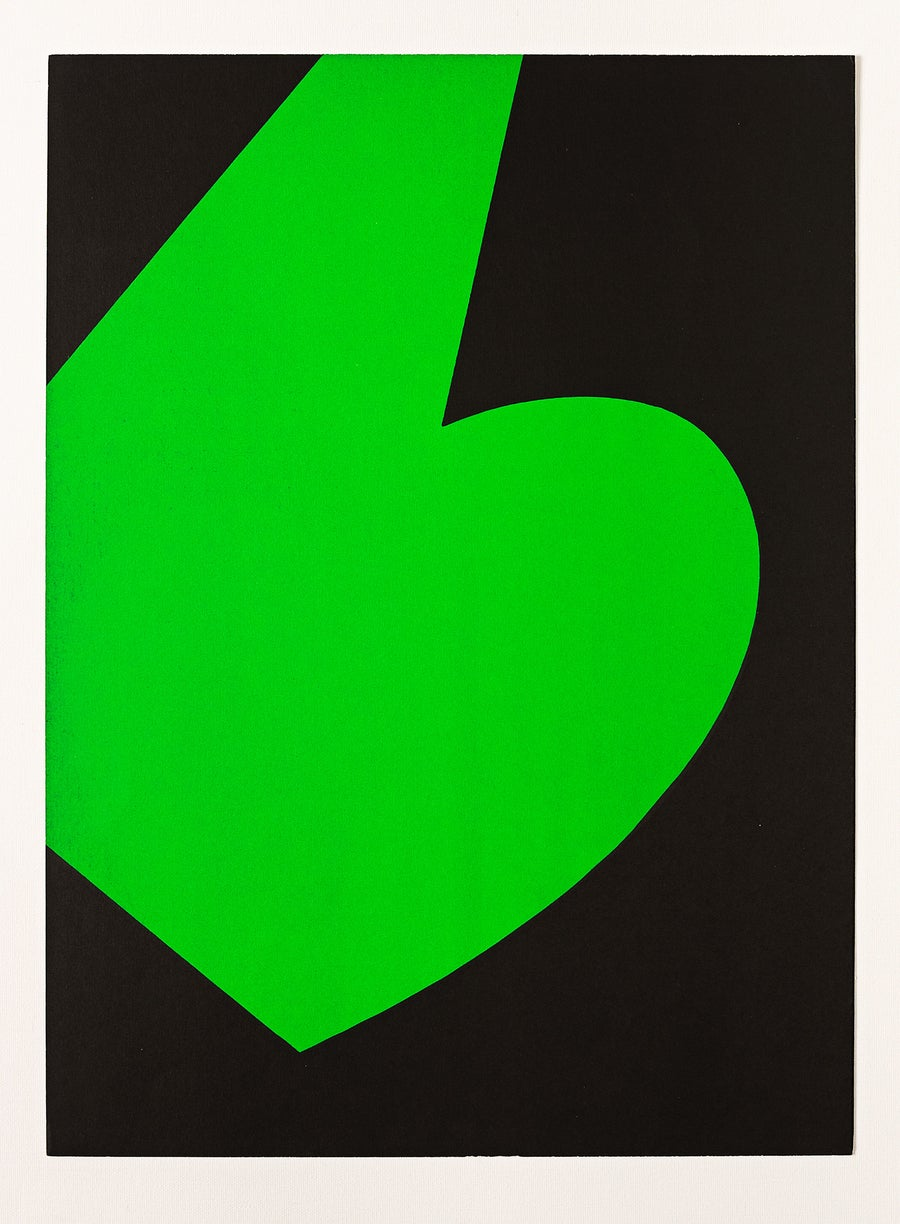 Image of Ellsworth Kelly, Derrière le Miroir- Kelly No. 110 black / green