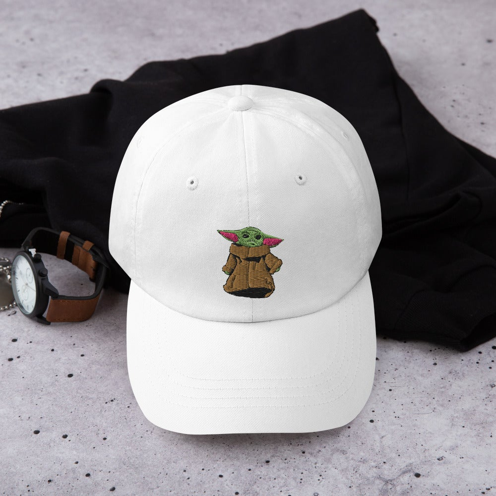 Image of Baby Yoda Embroidered Dad Hat