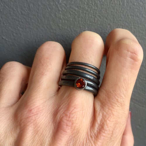 Image of Indian summer set of rings 7