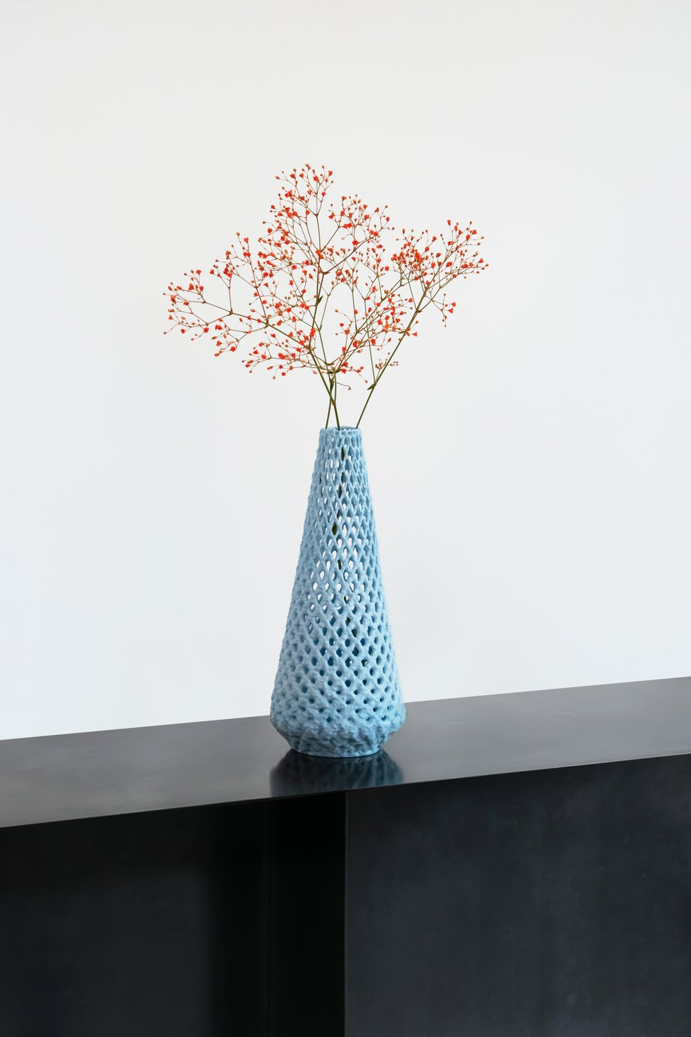 Image of Marblelous vase - medium - blue