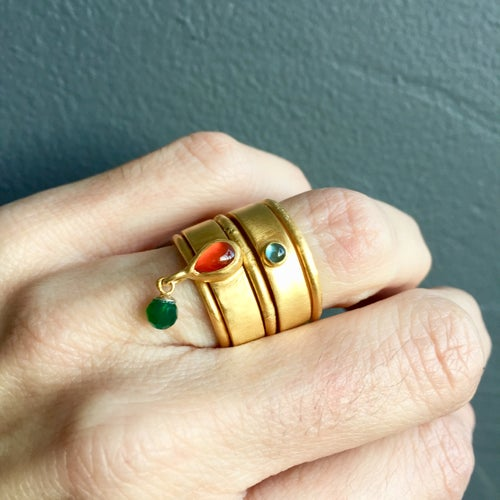Image of Indian summer set of rings 1