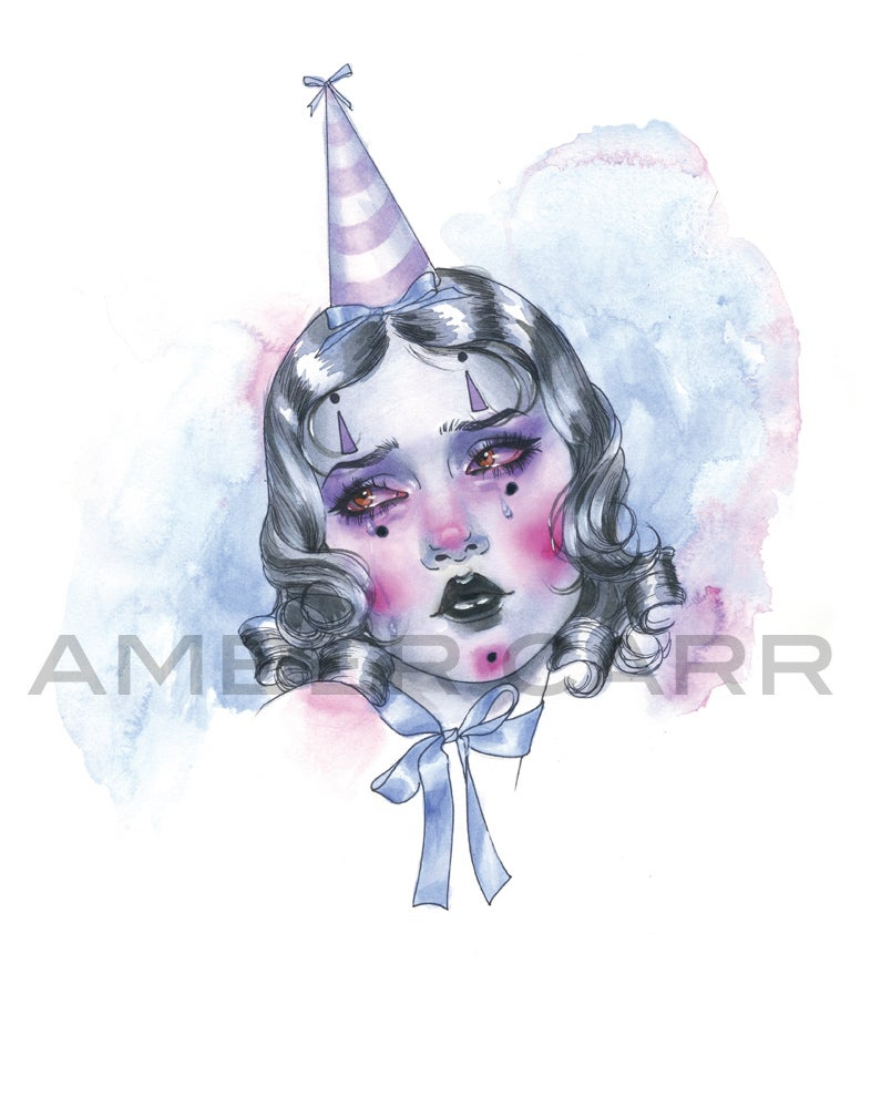 "Image of Purple Clown 11"" x 14"" Print"
