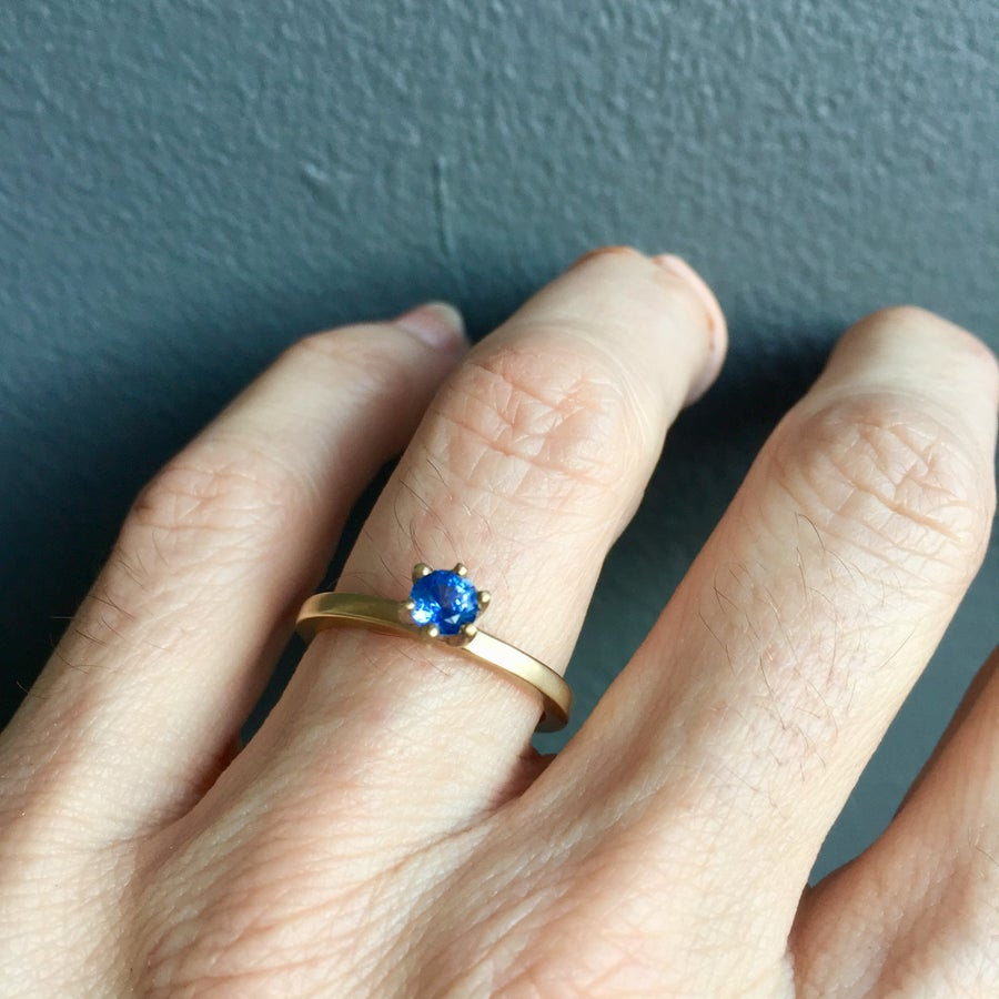 Image of Indian Summer Ring Blue Sapphire  One of a Kind