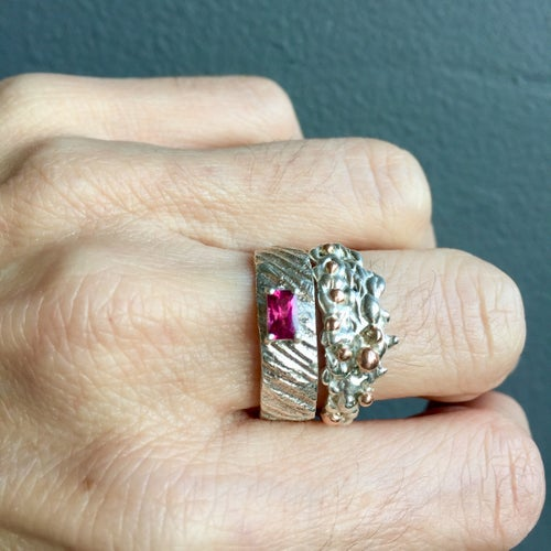 Image of Plethora set of two rings - Pink Tourmaline