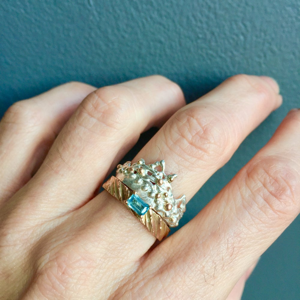 Image of Plethora set of two rings - Aqua
