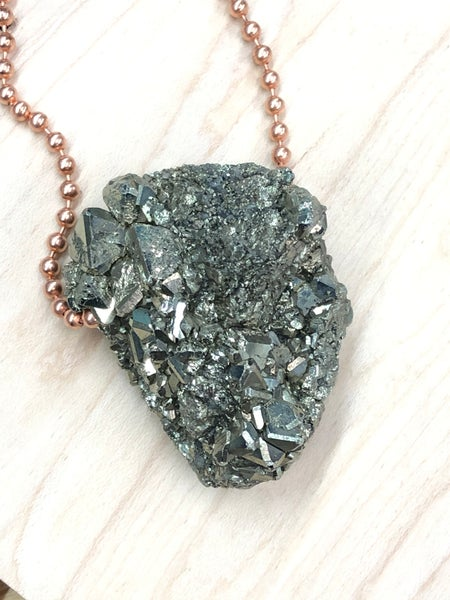 Image of Plain Jane Peruvian Pyrite Necklace