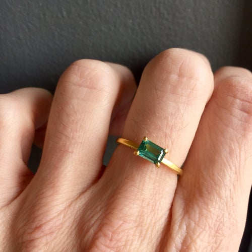Image of Indian Summer Ring Green Tourmaline