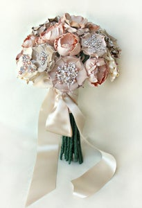 Image of Luly Blush Silk Flower Bouquet
