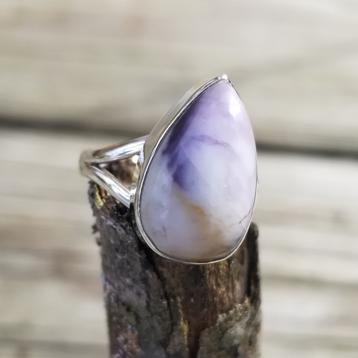 Image of Tiffany Stone Ring in Sterling