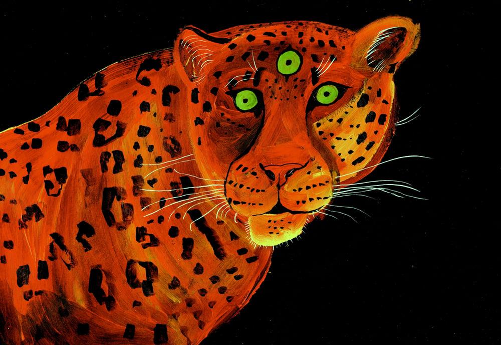 Image of Third Eye Jaguar archival PRINT or ORIGINAL painting