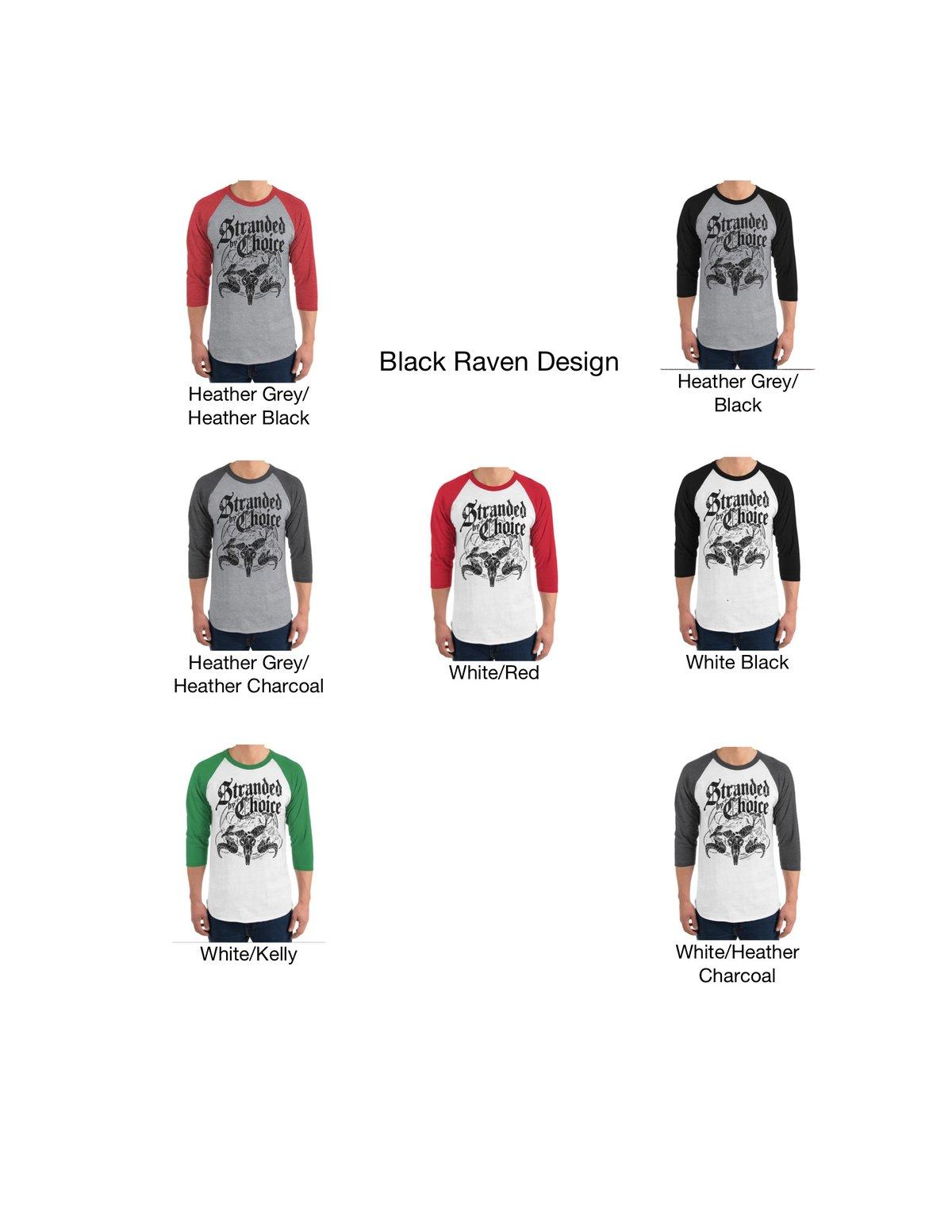 Raven Design 3/4 Sleeve Raglan Unisex Shirt