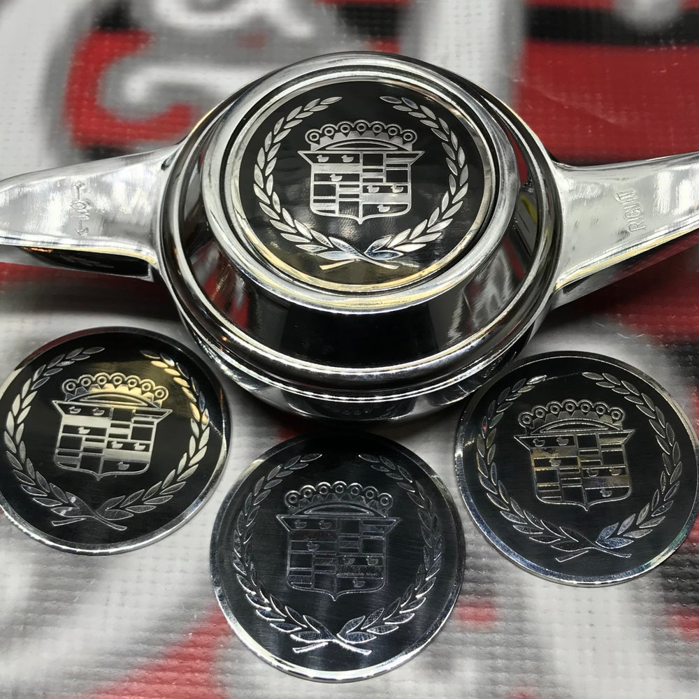Image of Black & chrome Cadillac chips