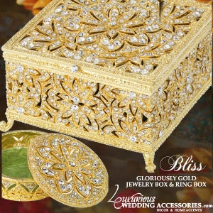 Image of Bliss Gloriously Gold Jewelery Box