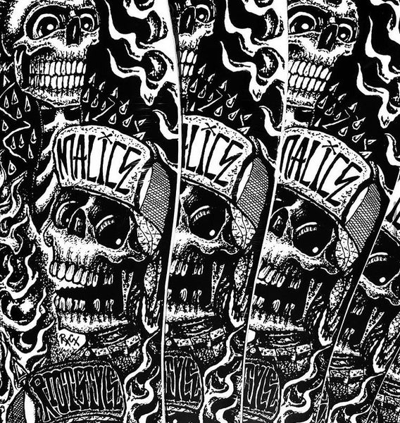 "Image of Riot Style x Ric Clayton ""Calaveras"" Cyco Fatboy / Fish-Tail Pool-Board Skateboard Deck"