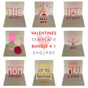 Image of Valentines Template Bundle # 1 - SVG / PDF files