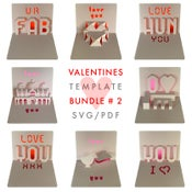 Image of Valentines Template Bundle # 2 - SVG / PDF files