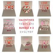 Image of Valentines Template Bundle # 2 - SVG / PDF digital files