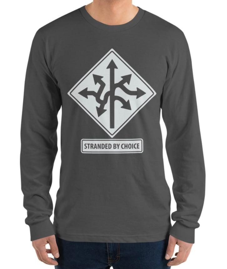 Road Sign Design Long Sleeve Unisex Shirt