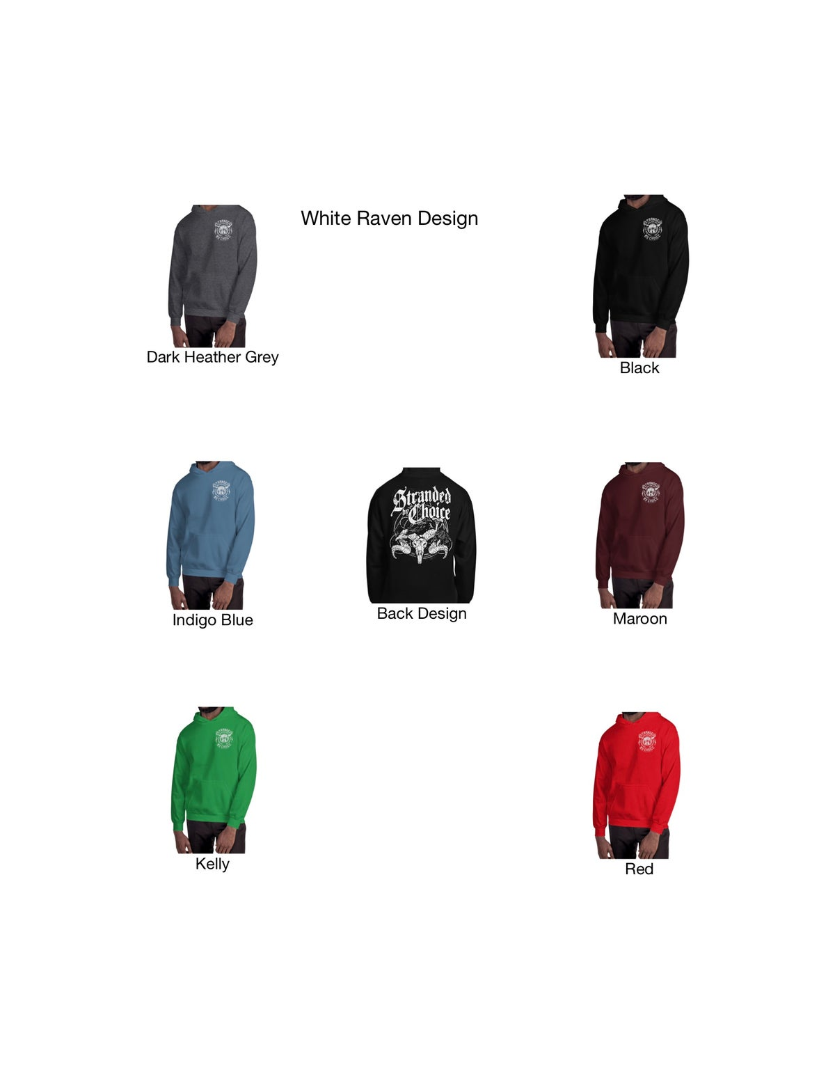 Raven Design Pull Over Unisex Hoodie