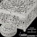 Bliss Swarovski Crystal Fleur Jewelry Box, Swarovski Jewellery Box With Mirror