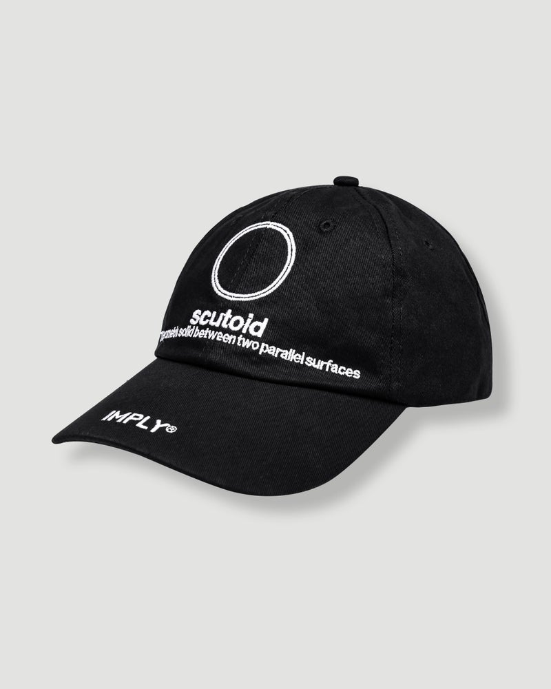 Image of IMPLY - Circle Scutoid Cap (Black)