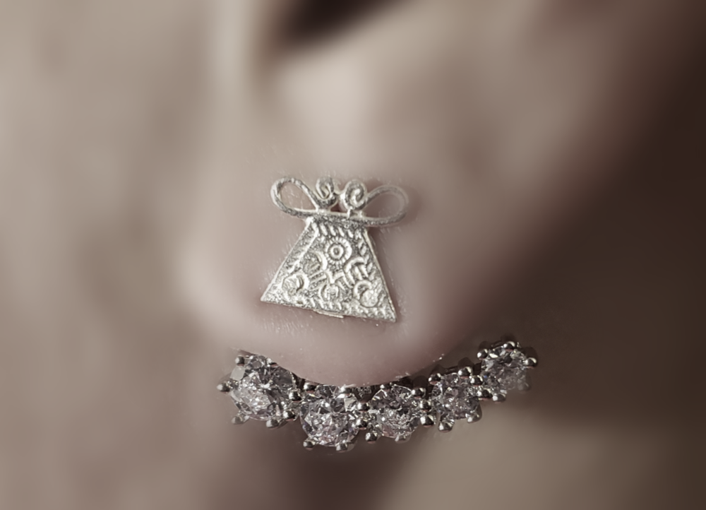 Mini Amulet Stud with CZ Earjacket