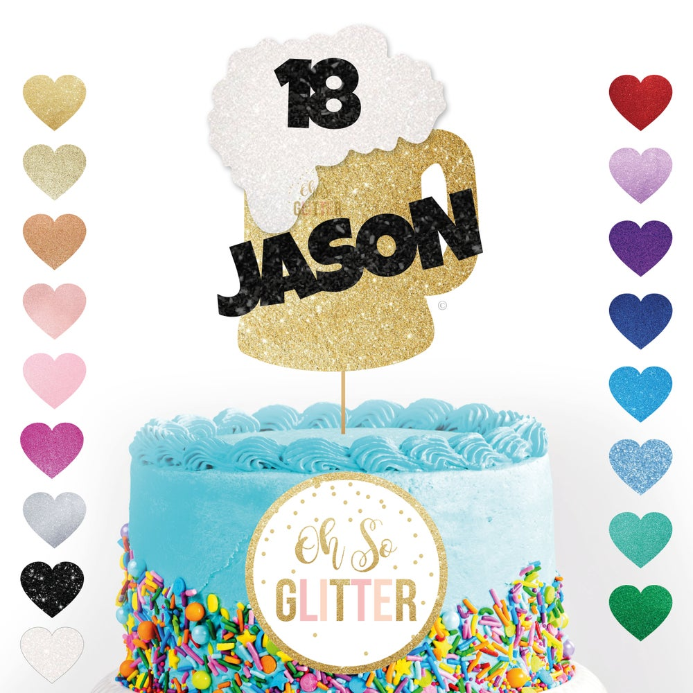 Image of Beer Cake topper