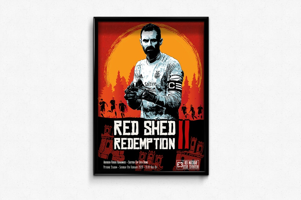 Image of Aberdeen FC - RedMatchday Print - Red Shed II