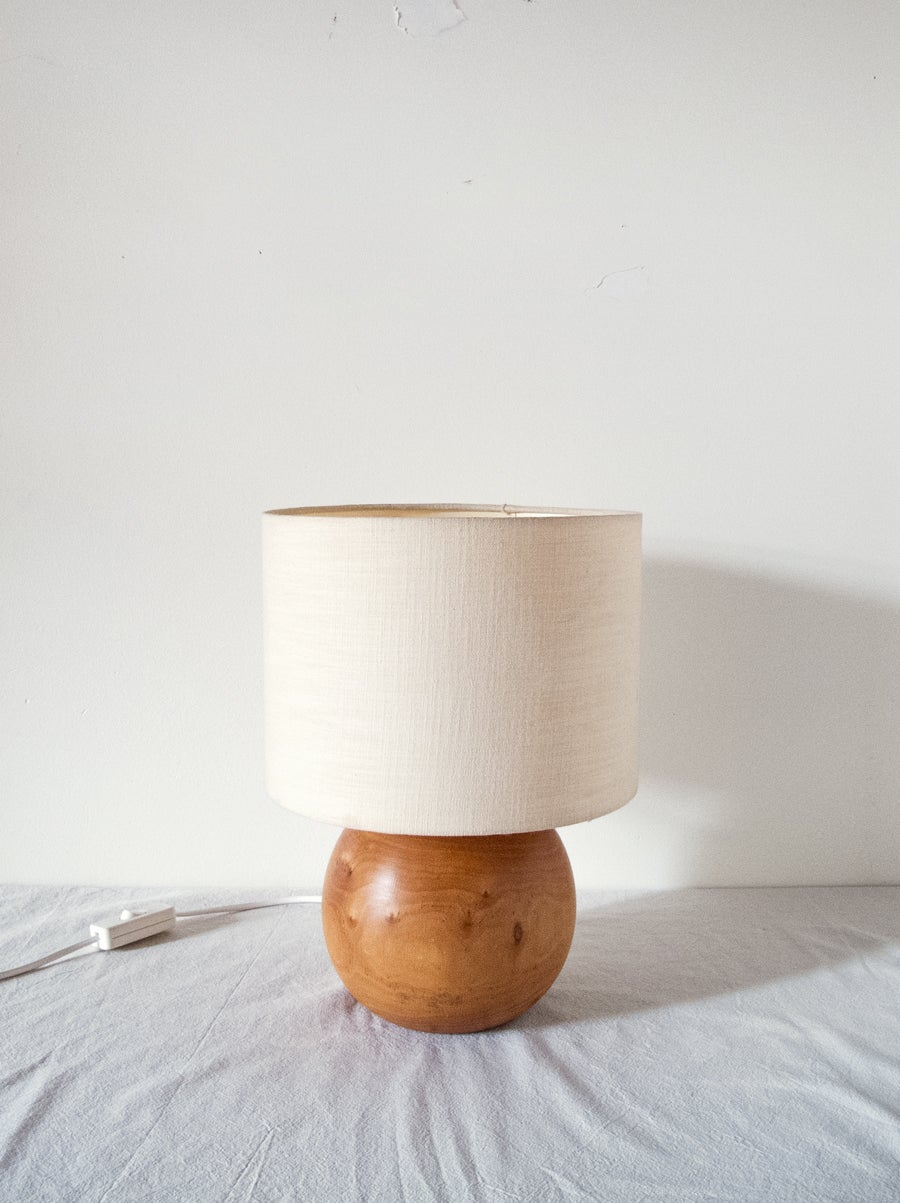 Image of wood lamp