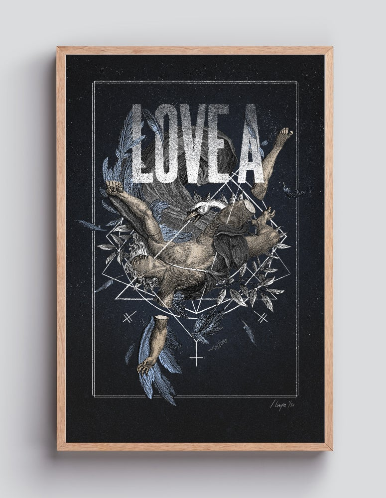 Image of LOVE A Fallen Angel – 40×60