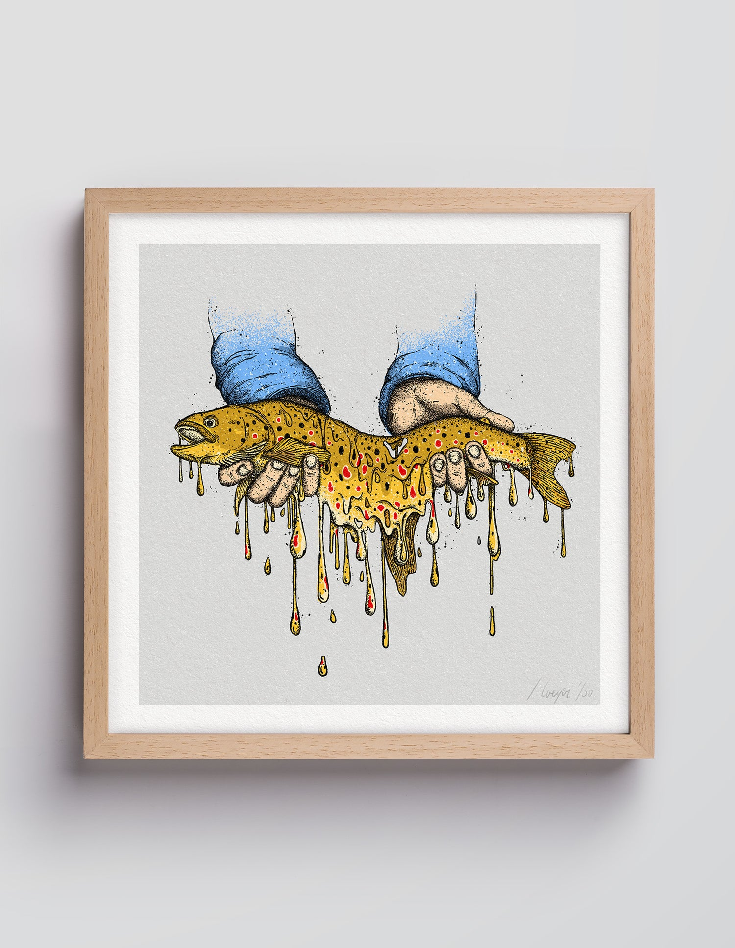 Image of Melting Trout – 30×30