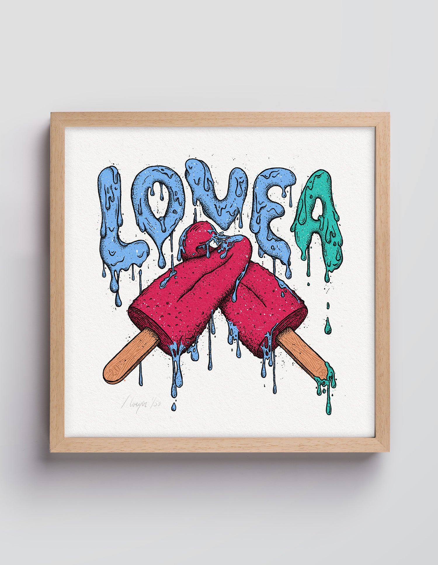 Image of LOVE A ice cream – 30×30